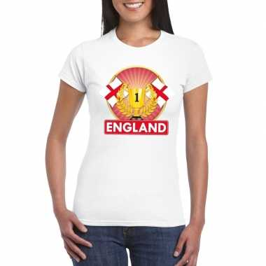 Wit engeland supporter kampioen shirt dames
