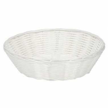 Wit gevlochten mandje 25 cm