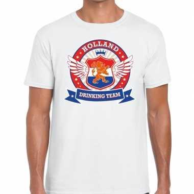 Wit holland drinking team rwb t-shirt heren