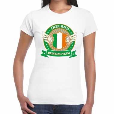 Wit ireland drinking team t-shirt dames