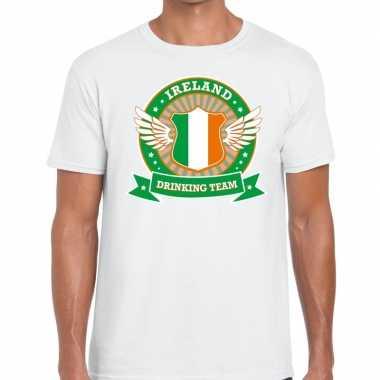Wit ireland drinking team t-shirt heren
