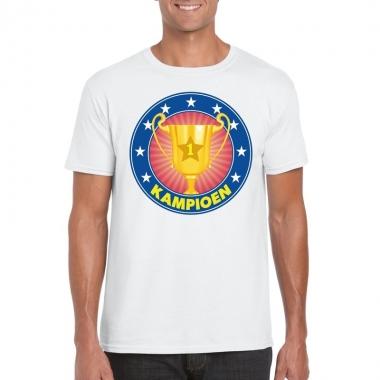 Wit kampioen shirt voor heren