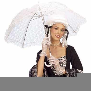 Wit kanten parasol