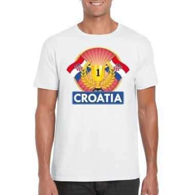 Wit kroatie supporter kampioen shirt heren