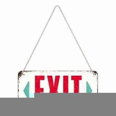 Wit ophangbordje exit