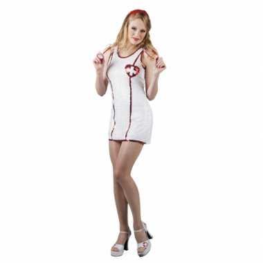 Wit pailletten jurkje met zuster print