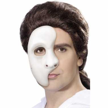 Wit phantom of the opera masker voor heren