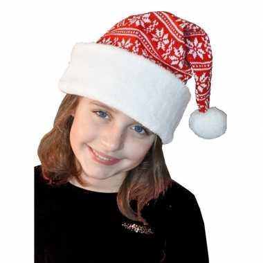 Wit/rode kerstmuts voor kinderen