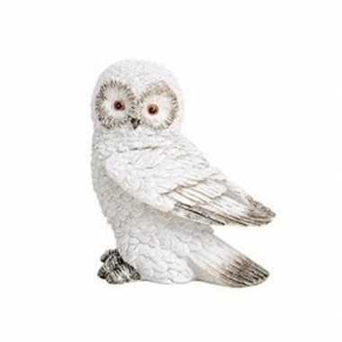 Wit sneeuwuil vogel decoratie beeldje 13 cm