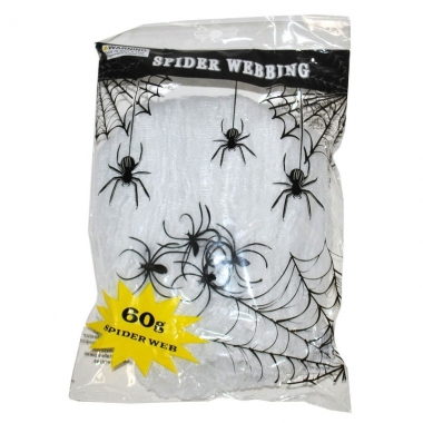 Wit spinnen web met spinnen
