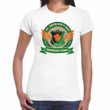 Wit st. patricks day drinking team t-shirt dames