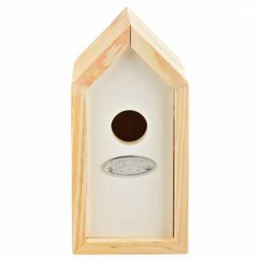 Wit vogelhuisje 10 x 11 x 20 cm