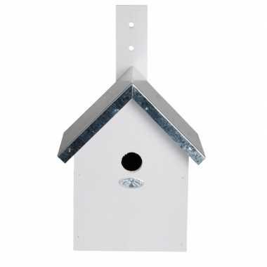 Wit vogelhuisje 19 x 18 x 31 cm