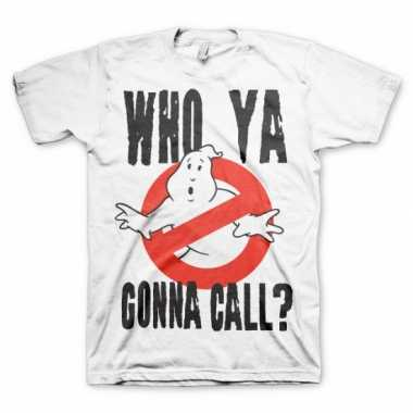 Wit who ya gonna call t-shirt