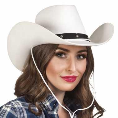Witte cowboyhoed wichita voor dames