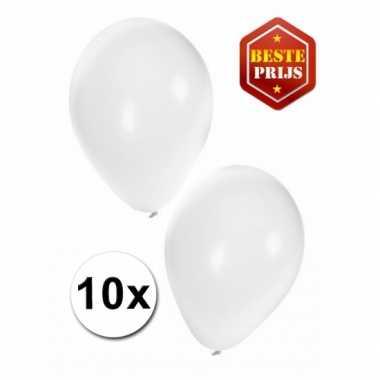 Witte decoratie ballonnen 10 stuks