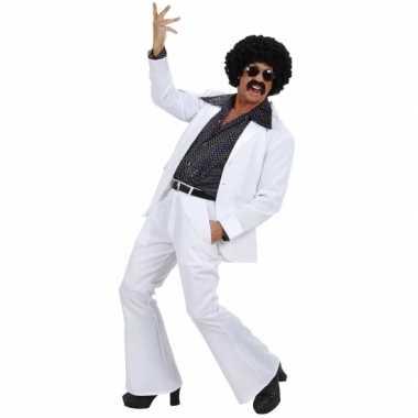 Witte disco outfit voor heren