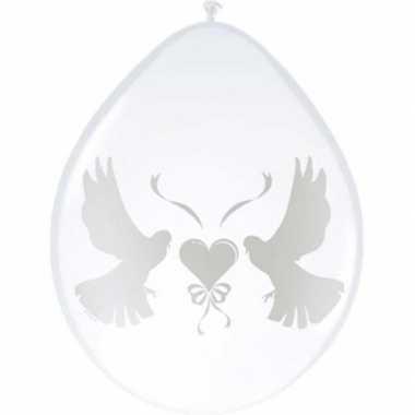 Witte duiven bruiloft ballonnen 8x