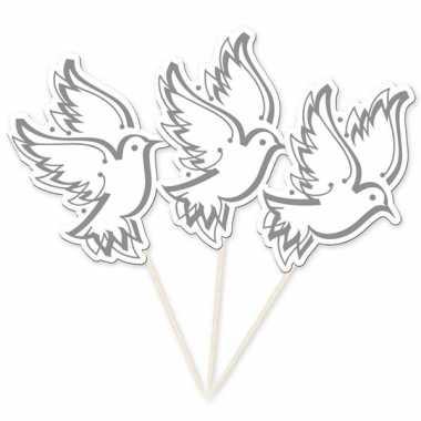 Witte duiven prikkers voor bruiloft
