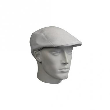 Witte flat cap van kunststof