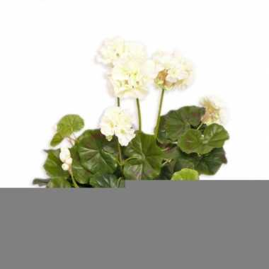 Witte geranium kunstplant 30 cm