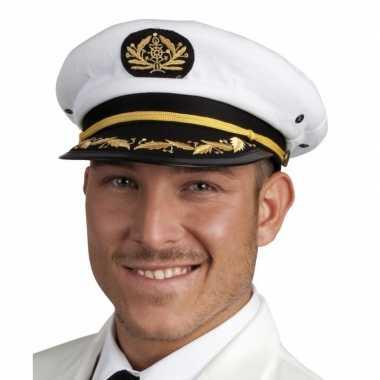 Witte kapiteinspet voor volwassenen maat 59
