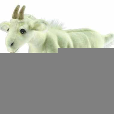 Witte knuffeltjes geit 35 cm