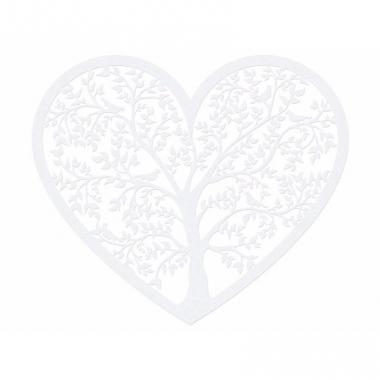 Witte knutselhartjes 13 cm