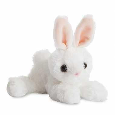Witte konijnen speelgoed artikelen konijn knuffelbeest 20 cm