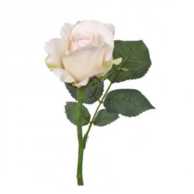 Witte kunstrozen 30 cm
