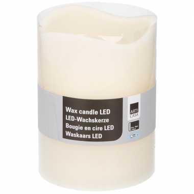 Witte led kaarsen/stompkaarsen 20 cm