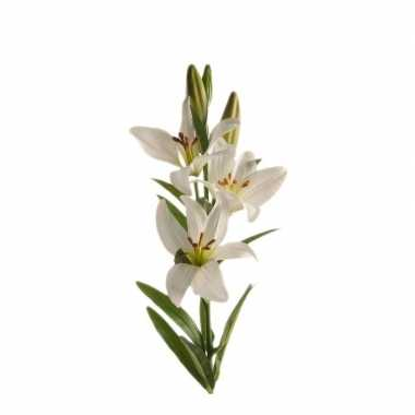 Witte lilium candidum/witte lelie kunstbloem 70 cm