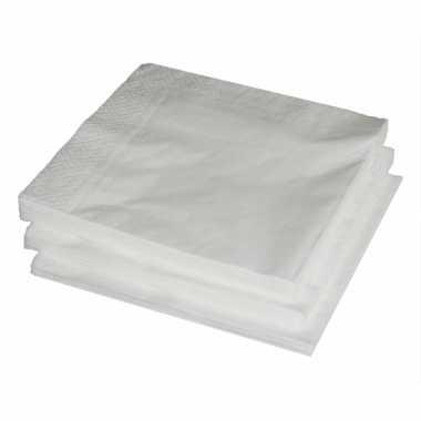 Witte papieren servetten 33 x 33 cm