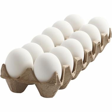 Witte plastic eieren 12 stuks 6 cm