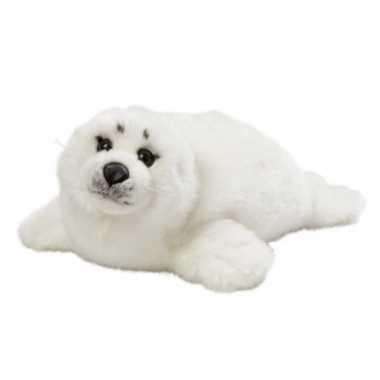 Witte pluche zeehond 40 cm