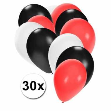 Witte rode en zwart ballonnen