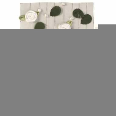 Witte roosjes aan slinger 2 meter