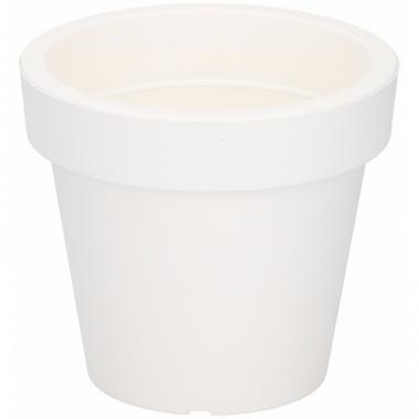 Witte sierpot 13 cm voor binnen of buiten