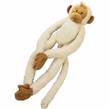 Witte slinger aap knuffels 23 cm trend