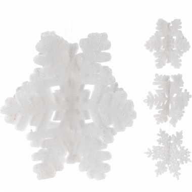 Witte sneeuwvlokken ophangdecoratie