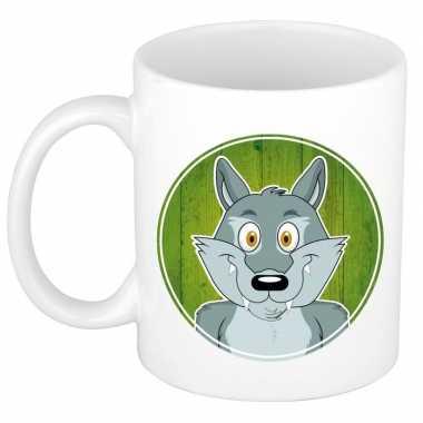 Wolf mok / beker voor kinderen 300 ml