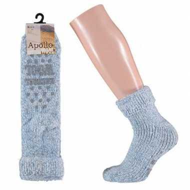 Wollen sokken in lichtblauw voor meisjes maat 31-34