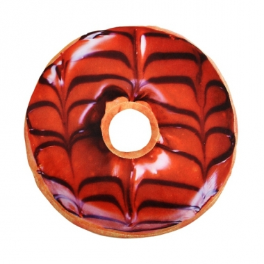 Woonaccessoire chocola donut kussen 40 cm
