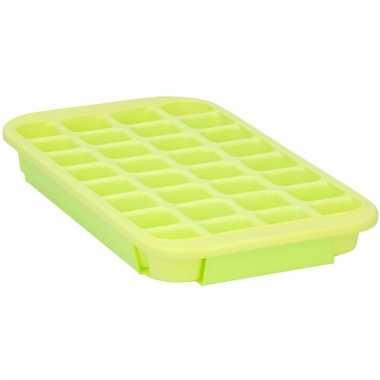 Xl ijsblokjes vorm 24 blokjes lime