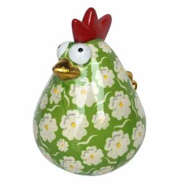Xl spaarpot kip 26 cm groen type 1