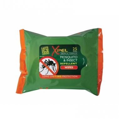 Xpel insectenwerende tissues 4 uur werking