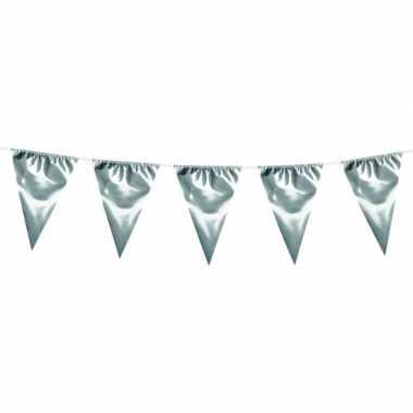 Xxl vlaggenlijn zilver 10 meter