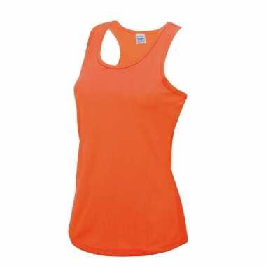 Yoga outfit neon oranje dames sport top