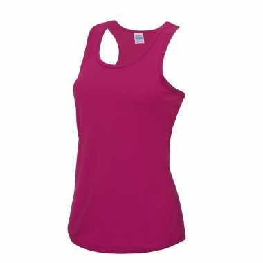 Yoga outfit roze dames sport top trend