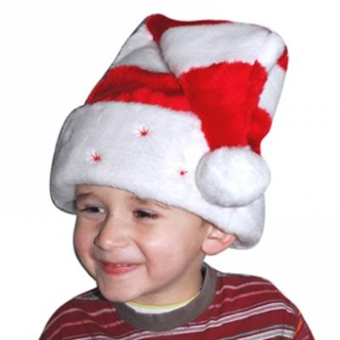 Zachte gestreepte kerst muts kind